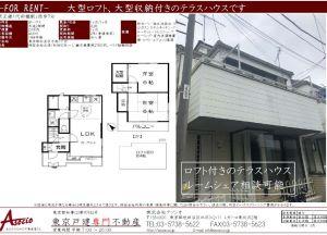 代田橋駅のテラスハウス賃貸【GPハウス】 2LDK VR賃貸(ご成約済)